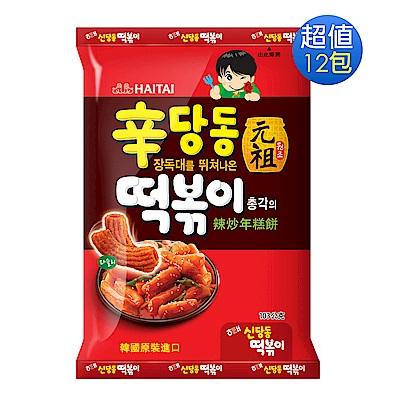 海太 辣炒年糕餅乾x12包(103g/包)