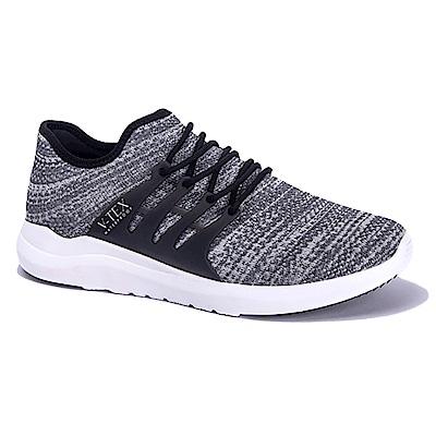 V-TEX 時尚針織耐水鞋/防水鞋 地表最強耐水透濕鞋-律動灰(女)