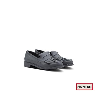 HUNTER - 女鞋-Refined流蘇樂福休閒鞋 - 灰