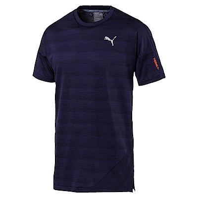 PUMA-男性慢跑系列Thermo-R+短袖T恤-重深藍(麻花)-歐規