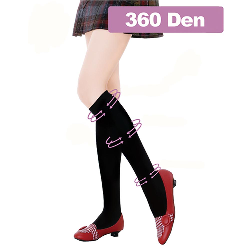足護士 Foot Nurse 360丹素色舒適中統彈性襪-2雙