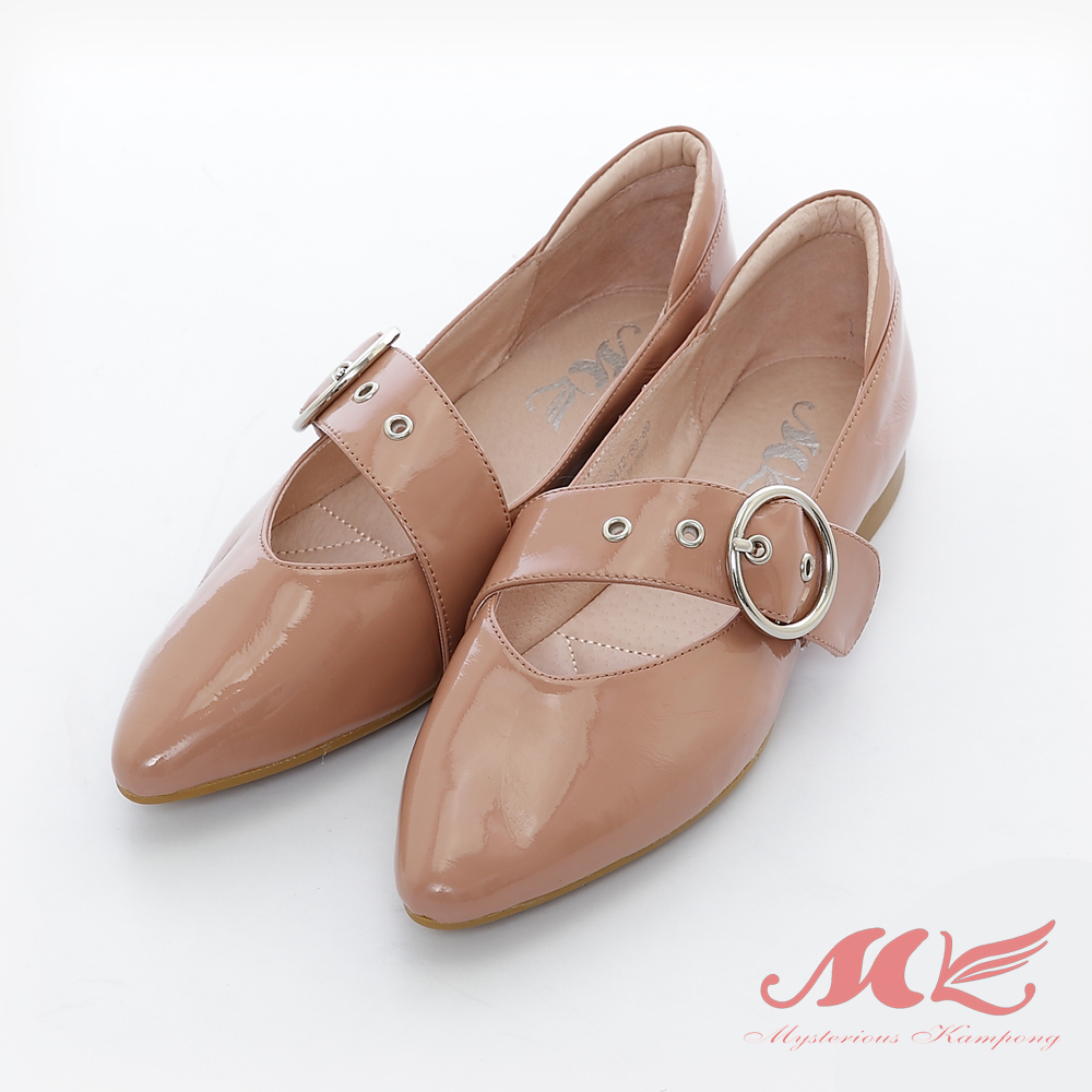 MK 英倫風金屬飾品單鞋 2色 product image 1