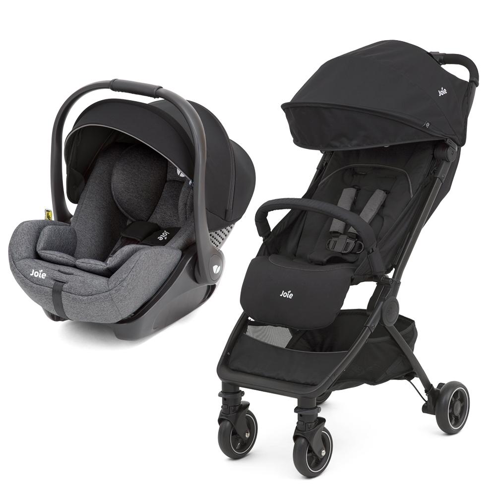 奇哥 Joie pact輕便型推車+i-Level ISOFIX 嬰兒提籃汽座