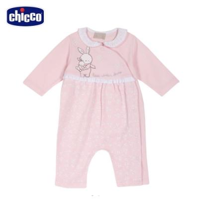 chicco-甜蜜小兔-精選碎花前側開兔裝(去腳套)
