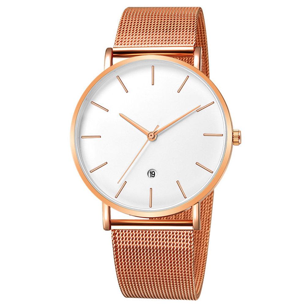 Geneva 日內瓦-簡約經典時標日曆米蘭帶手錶 (5色任選) product image 1