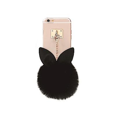 DDPOP iPhone 6/6S Plus 韓流明星手機殼 療癒兔兔吊飾款