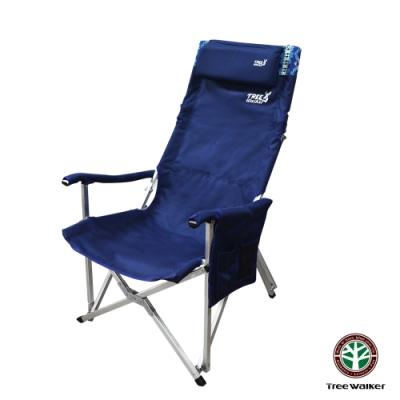 Tree Walker 牛津布可折背露營椅 深藍民族風