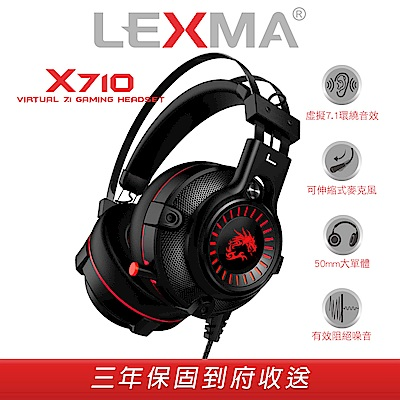 LEXMA X710有線遊戲耳機