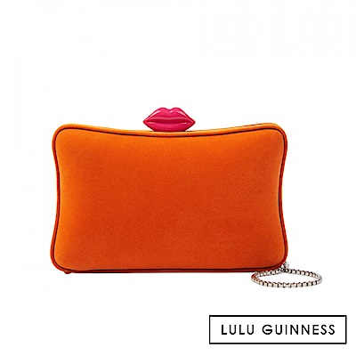 LULU GUINNESS LAVINIA 手拿/側背包 (橘)