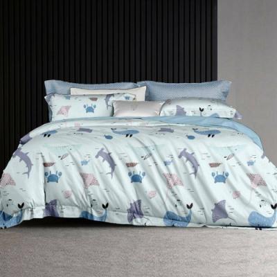 LAMINA 夢幻海洋 100%天絲枕套床包組 單人