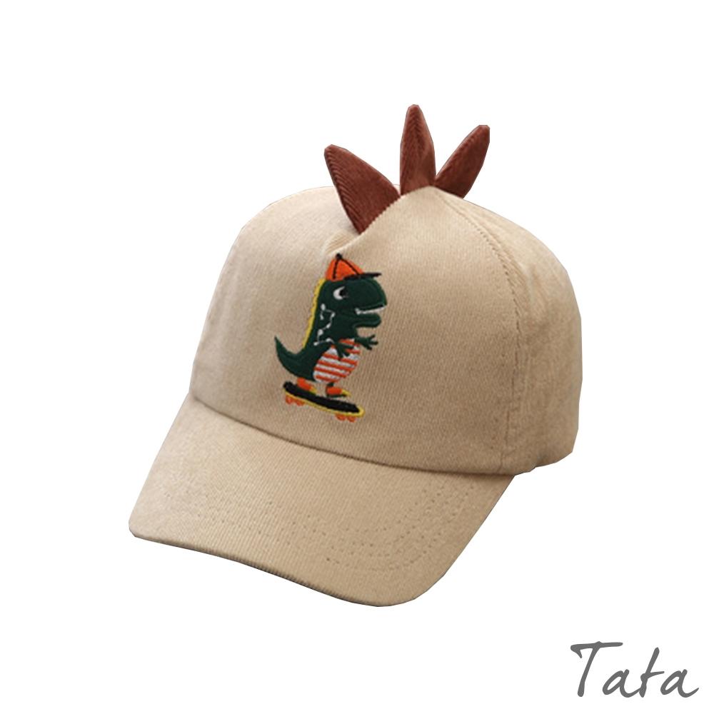 童裝 卡其恐龍刺繡造型鴨舌帽 TATA KIDS