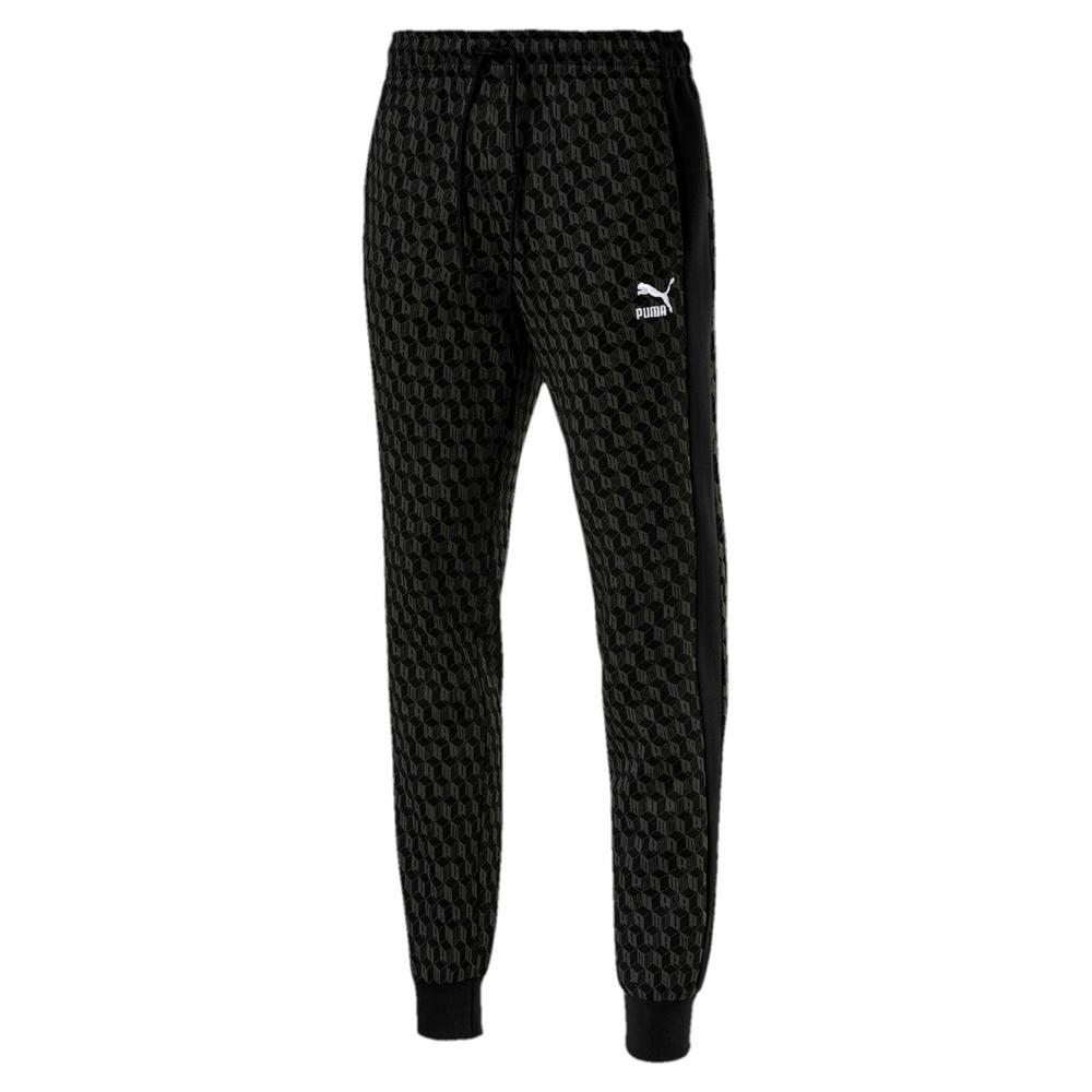 PUMA-男性流行系列Luxe長褲-黑色-歐規
