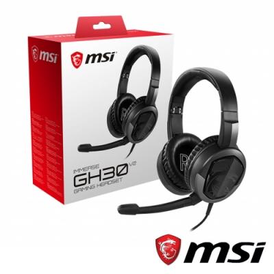 MSI微星 IMMERSE GH30 V2 電競耳機