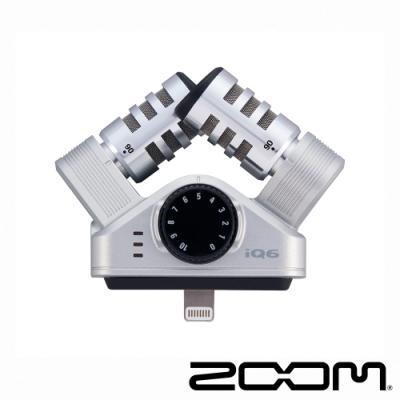 ZOOM iQ6 立體聲收音麥克風│適 iOS Lightning