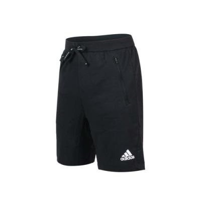 ADIDAS 男運動短褲-亞規 慢跑 路跑 五分褲 吸濕排汗 針織 愛迪達 GM0129 黑白