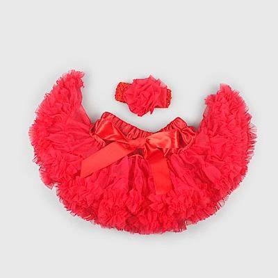 日安朵朵 女嬰童雪紡蓬蓬裙 - 小紅帽
