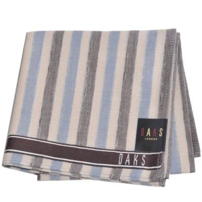 DAKS 經典字母LOGO直紋帕領巾(卡其色系)