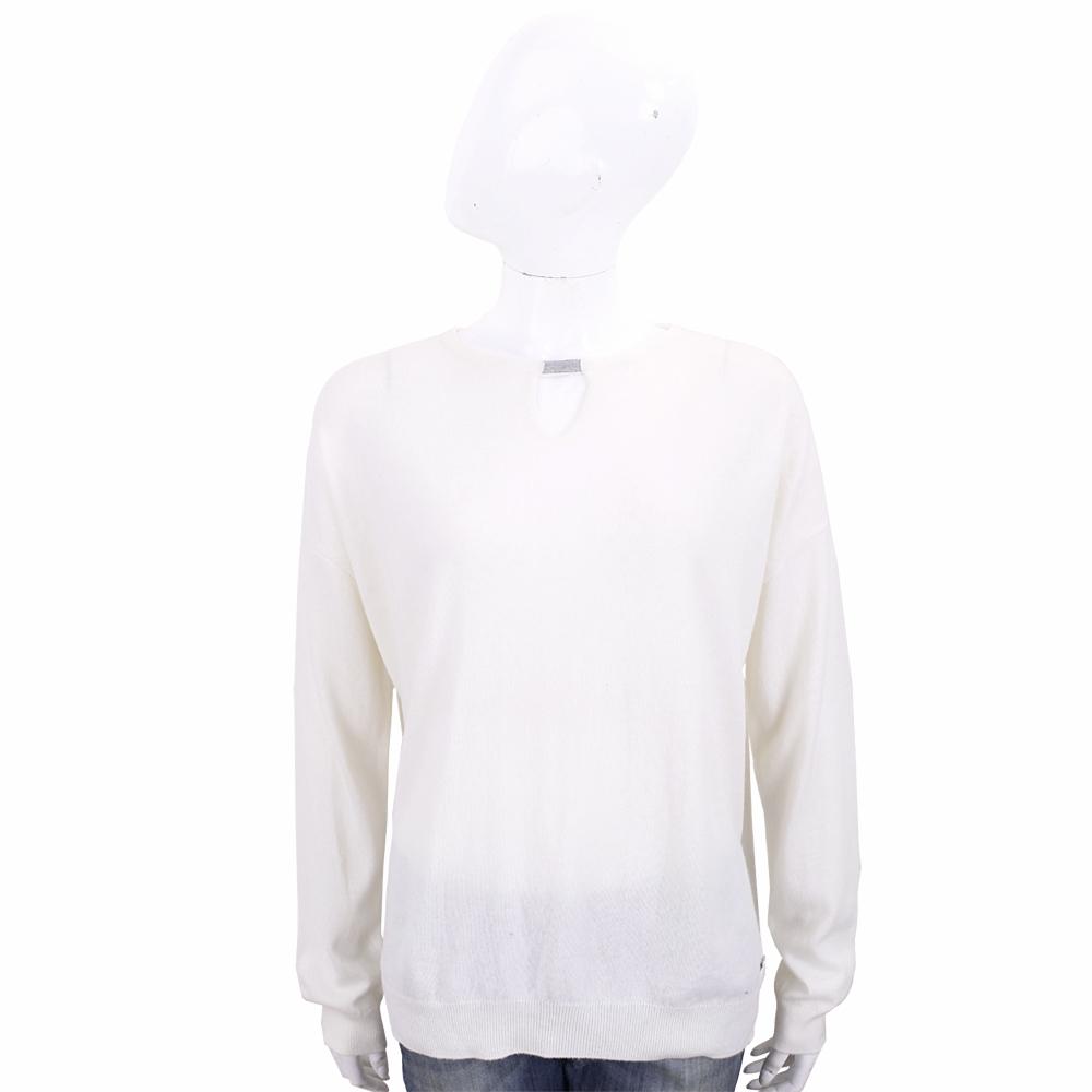 Andre Maurice 領口挖洞米白色喀什米爾羊毛衫