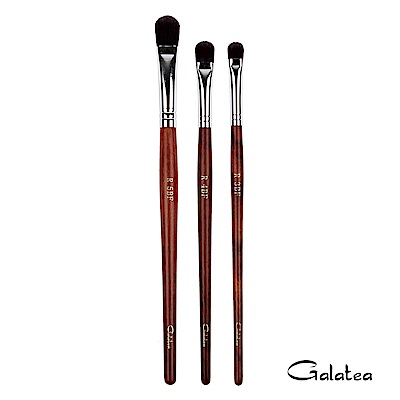 Galatea葛拉蒂 紅木系列 大中小圓眼影刷 / 遮瑕刷3支組
