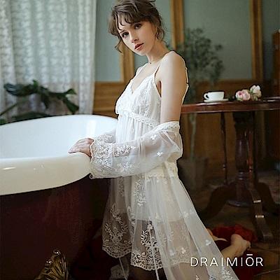 性感睡衣 DRAIMIOR花樣柔紗蕾絲睡衣組 久慕雅黛