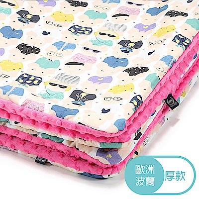 La Millou暖膚豆豆毯(加大款)-繽紛萌萌豬-桃氣小甜心-四季毯嬰兒毯遊戲墊毛毯