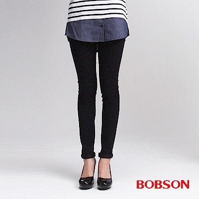 BOBSON 女款高腰緊身藍黑牛仔褲
