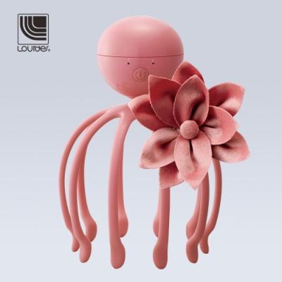 Lourdes花卉限定小章魚音波紓壓頭皮按摩器(大麗菊粉)