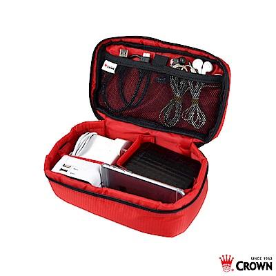 CROWN 皇冠 防水防撕裂 線材小工具包 紅色