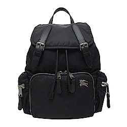 BURBERRY 戰馬LOGO鋪棉尼龍中型後背包(黑色)