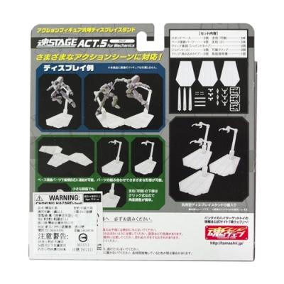 日本BANDAI萬代模型支架展示台ROBOT魂STAGE ACT.5三入for Mechanics透明(可無限連接)地台展示架