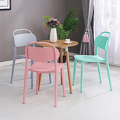 【日居良品】2入組-美式弧形美背時尚餐椅/休閒椅(7色可選) @ Y!購物