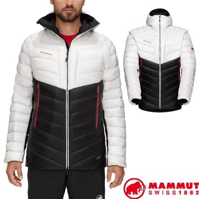 長毛象 男新款 Broad Peak IN 輕量保暖防風防潑連帽羽絨外套.夾克_黑/紅