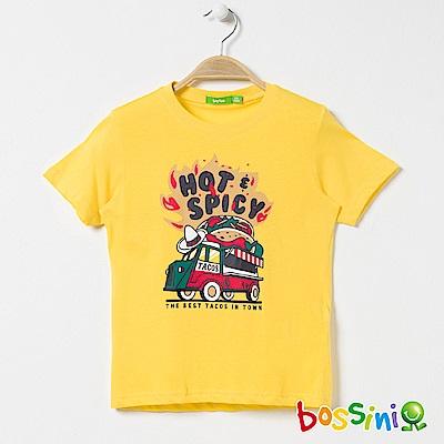 bossini男童-印花短袖T恤15黃