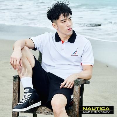 Nautica COMPETITION男裝簡約時尚短袖POLO衫-白