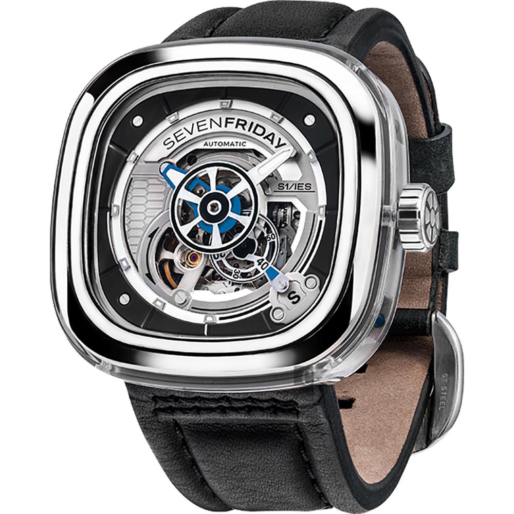 (無卡分期12期) SEVENFRIDAY S1 透視極限自動上鍊機械錶-47mm