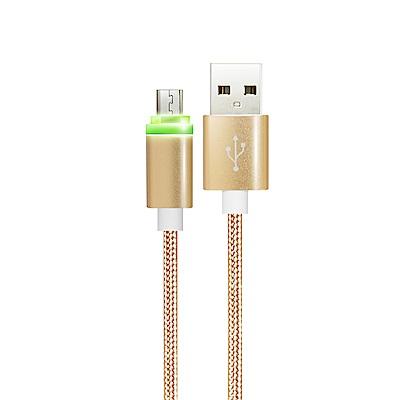 AISURE for Micro USB 安卓系列LED編織傳輸充電線(2入)