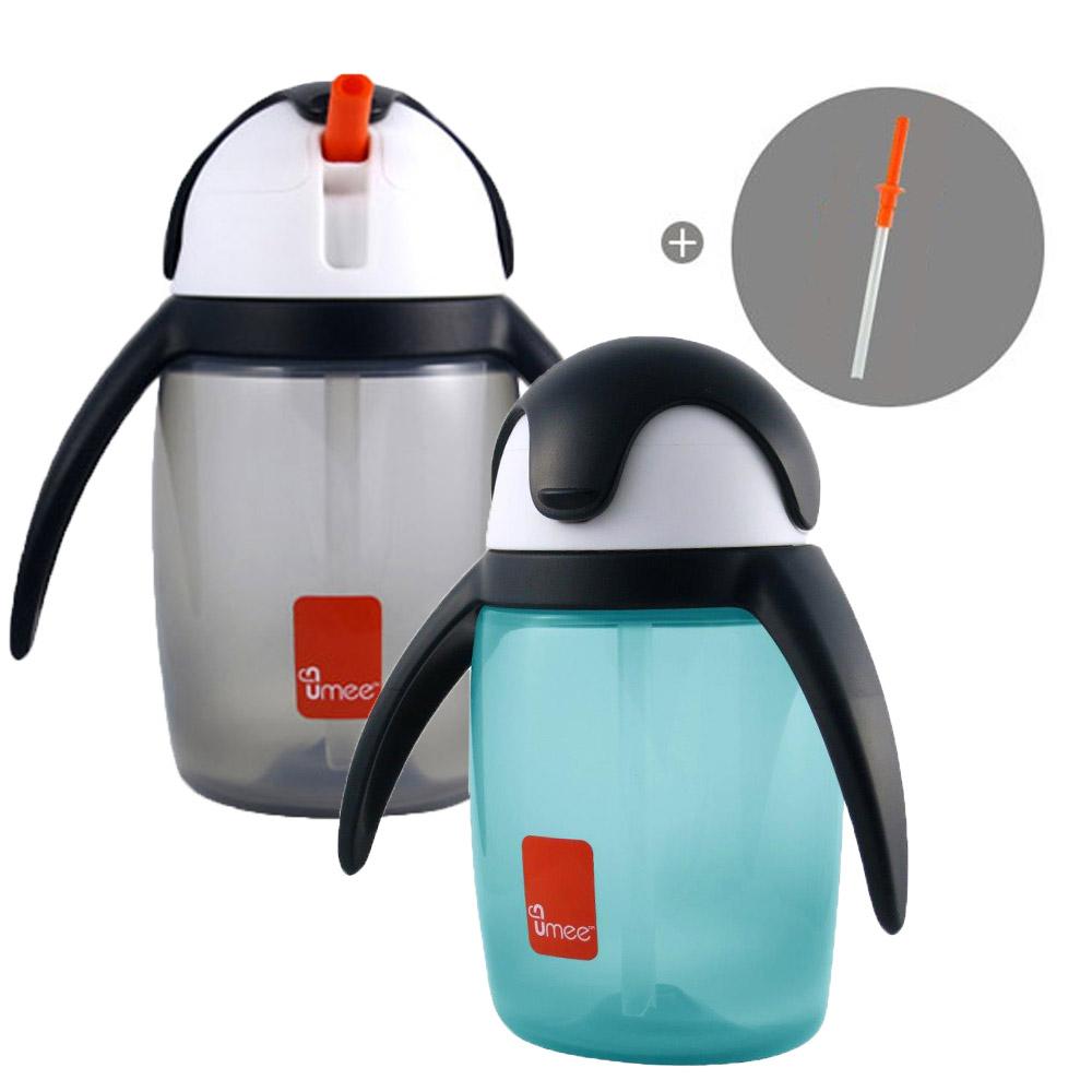 【荷蘭 Umee】 優酷企鵝杯 360ml(共2色) 加贈替換吸管1組 product image 1