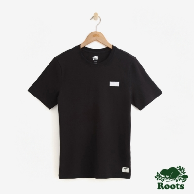 男裝Roots-網眼布短袖T恤-黑