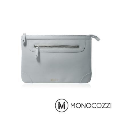 MONOCOZZI Posh 皮革保護內袋 for Macbook Air 11吋-淡灰藍
