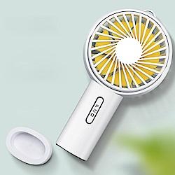 迷你手持風扇 上下風向調節 USB充電 桌上/手持兩用 (F