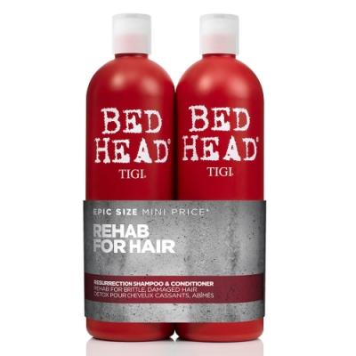 *TIGI 摩登健康專業洗髮+護髮組750ml限量版大容量(含押頭)