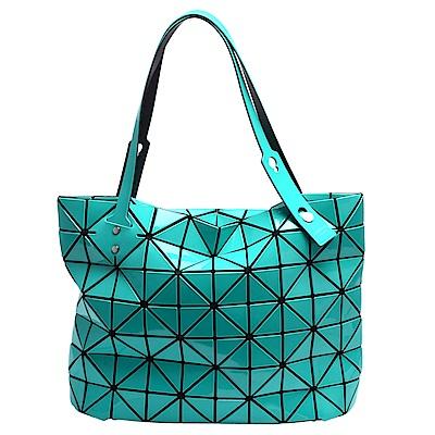 ISSEY MIYAKE 三宅一生BAOBAO幾何方格10X7手提包(綠)