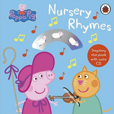 Peppa Pig:Nursery Rhymes 佩佩豬童謠CD書