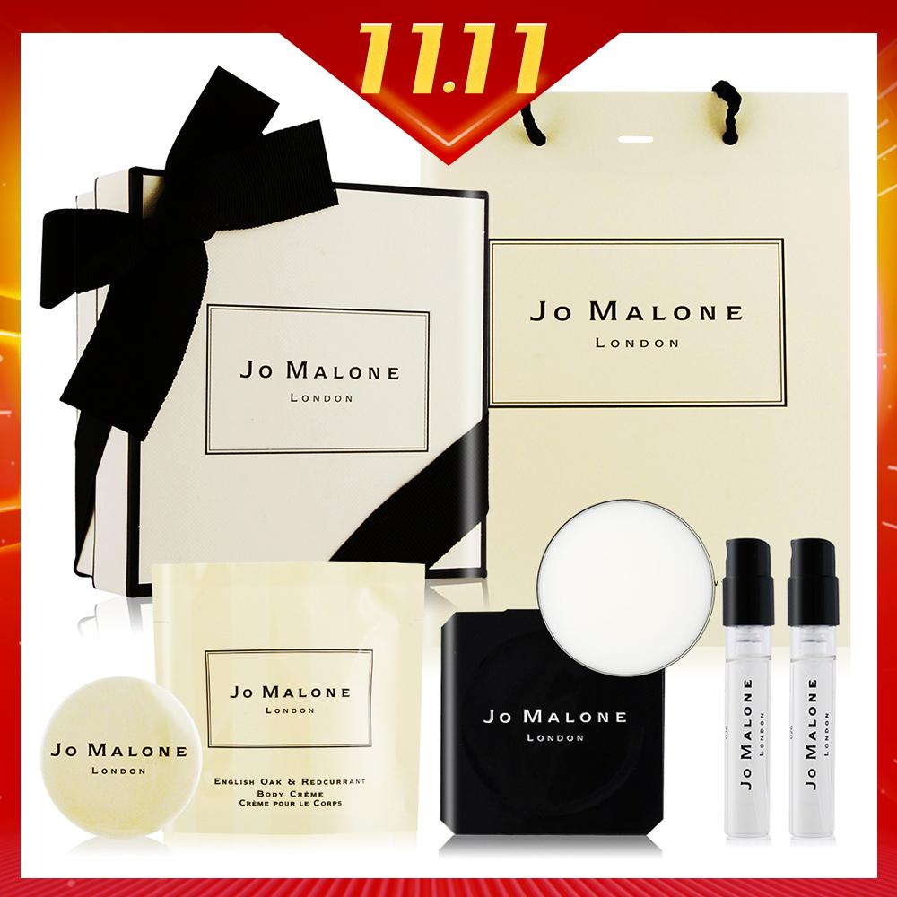 Jo Malone 香膏/香氛組任選[香膏+針管X2+潤膚霜+禮盒+別針+提袋]