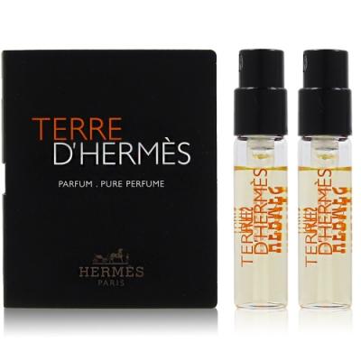 HERMES愛馬仕 Terre D`Hermes 大地男性香精1.5ml*2入