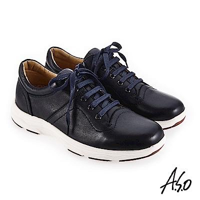 A.S.O 超能耐二代 避震止滑休閒鞋 深藍