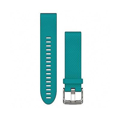 GARMIN QUICKFIT 20mm 綠松藍矽膠錶帶