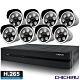 【CHICHIAU】H.265 8路5MP台製iCATCH數位高清遠端監控錄影主機(含四合一1080P SONY 200萬畫素6陣列燈監視器攝影機x8) product thumbnail 1