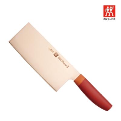 德國雙人 ZWILLING Now 中式主廚刀 18cm 石榴紅