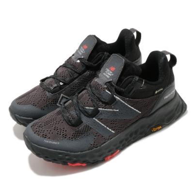 New Balance 慢跑鞋 Fresh Foam Hierro 寬楦 女鞋 紐巴倫 GTX鞋面 避震 黃金大底 黑 灰 WTHIEBX5D